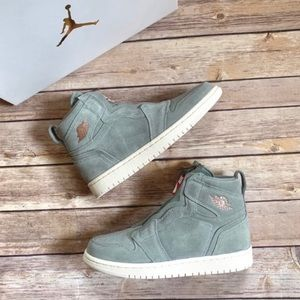 Nike Air Jordan 1 Retro High Zip In Mica Green